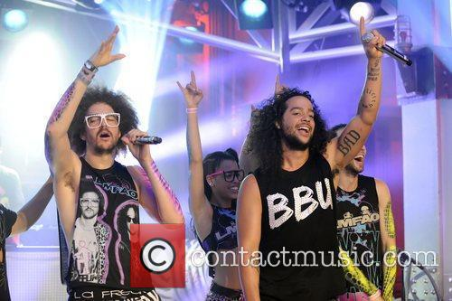 Of LMFAO appear on Much Music's New.Music.Live.