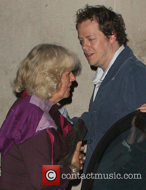 Camilla, Duchess of Cornwall leaving Locanda Locatelli restaurant...