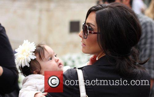Courtney Mazza and daughter Gia Francesca Lopez out...