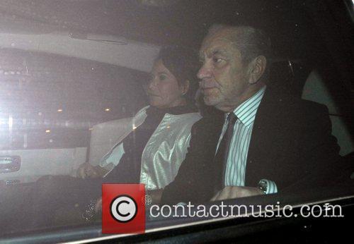 Lord Alan Sugar leaves Scott's restaurant in Mayfair...