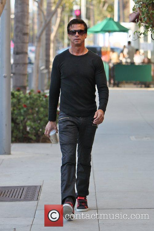 Is seen walking in Beverly Hills after getting...