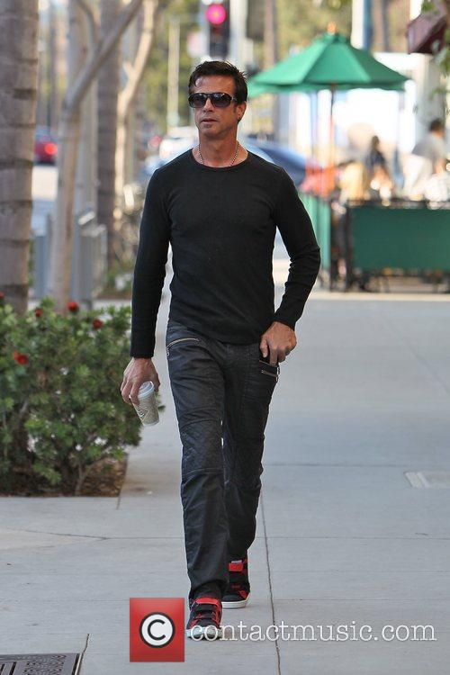 Lorezo Lamas  is seen walking in Beverly...