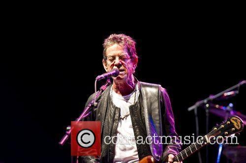 Lou Reed performing live at the Hammersmith Apollo...