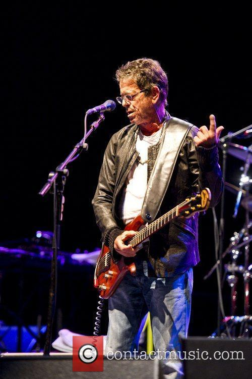 Lou Reed performing live at the Hammersmith Apollo