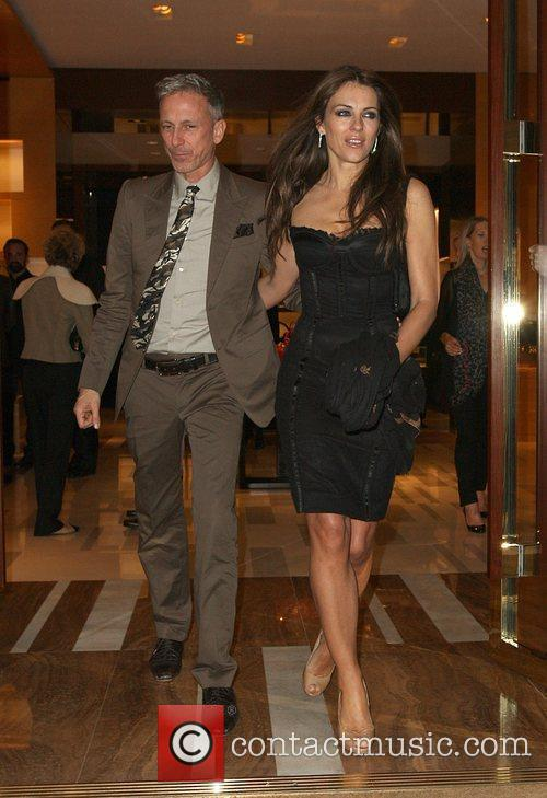 Patrick Cox and Elizabeth Hurley,  at a...