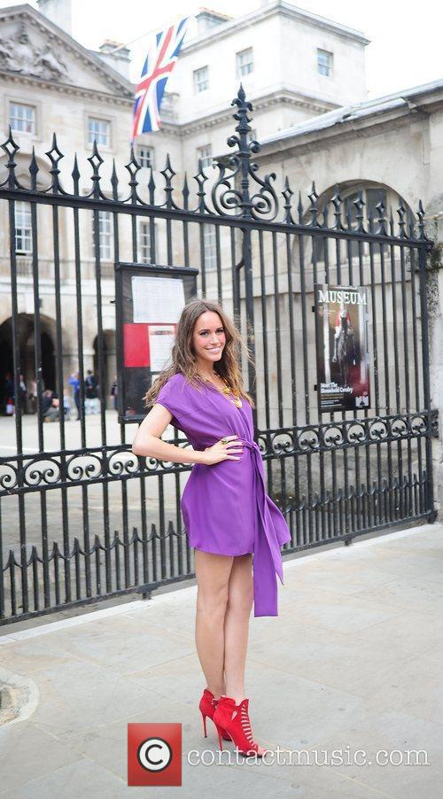 Posing in central London during the Royal Wedding...