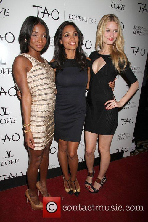 Genevieve Jones, Rosario Dawson and Tao Nightclub 9