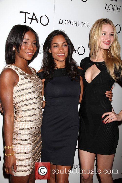 Genevieve Jones, Rosario Dawson, Tao Nightclub