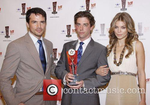 Matthew Settle, Annalynne Mccord and Christian Borle 2