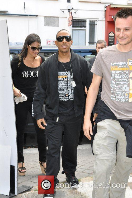 Ludacris is seen arriving at Orange Rock Corps