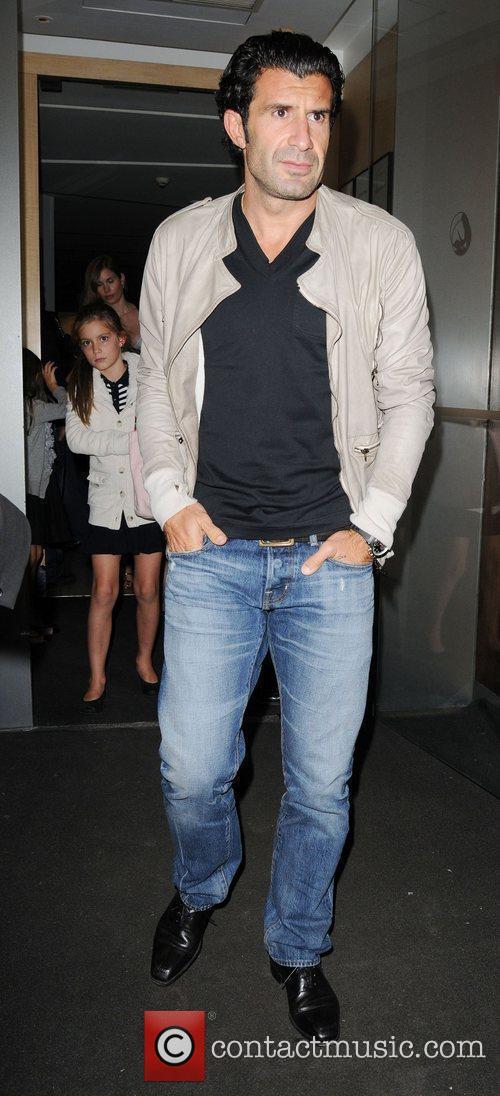 Luis Figo and his wife Helen Svedin are...