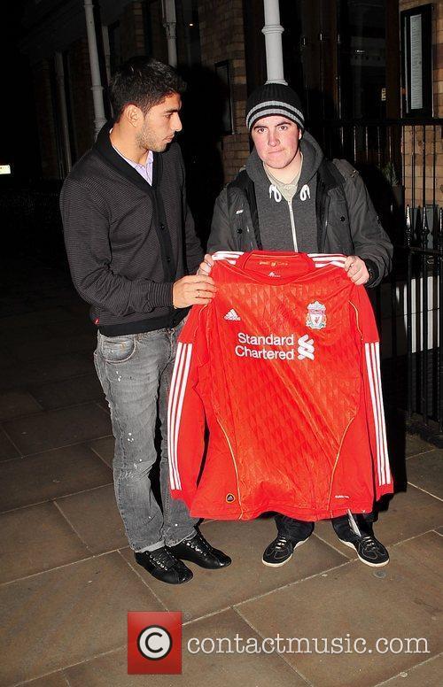 New Liverpool signing, Uruguayan footballer Luis Suarez, given...