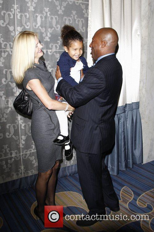 Byron Allen, wife Jennifer, daughter Chloe at the...
