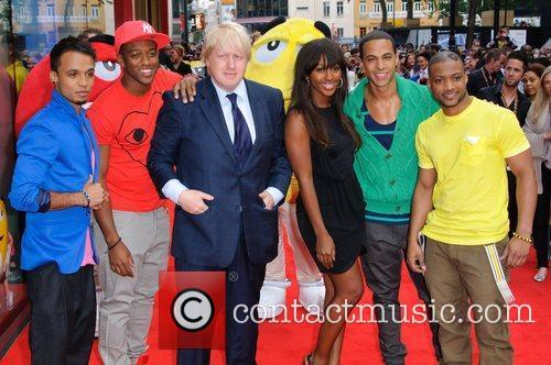 Jls, Alexandra Burke and Boris Johnson 3