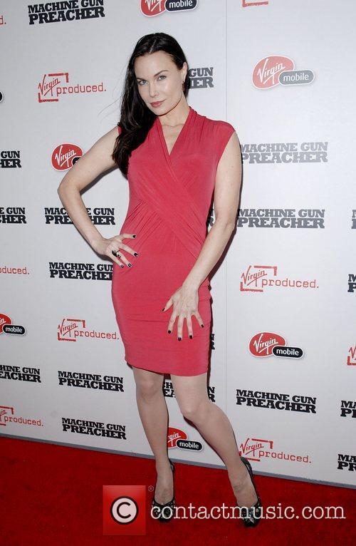 At the 'Machine Gun Preacher' premiere shown at...