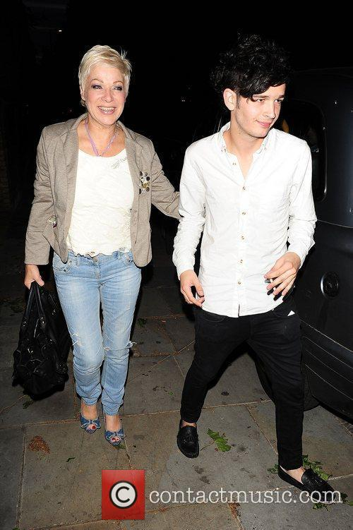 Denise Welch and her son out in Chelsea