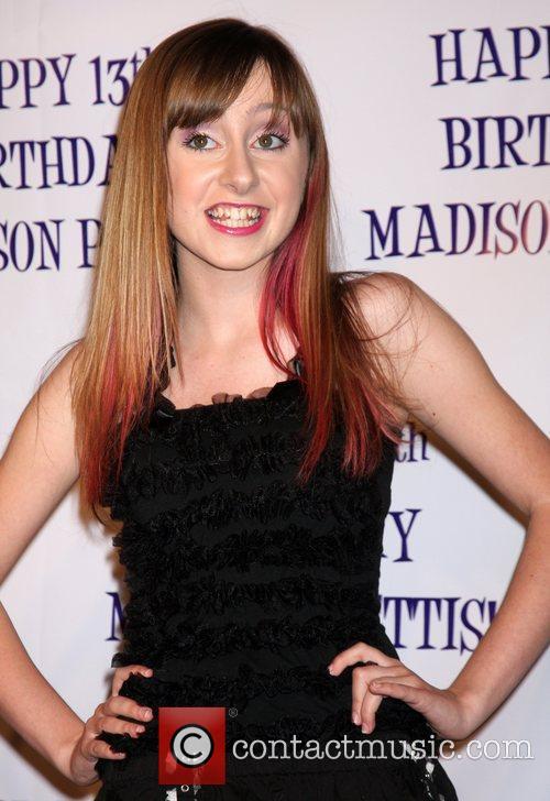 Allisyn Ashley Arm Madison Pettis's 13th birthday party...