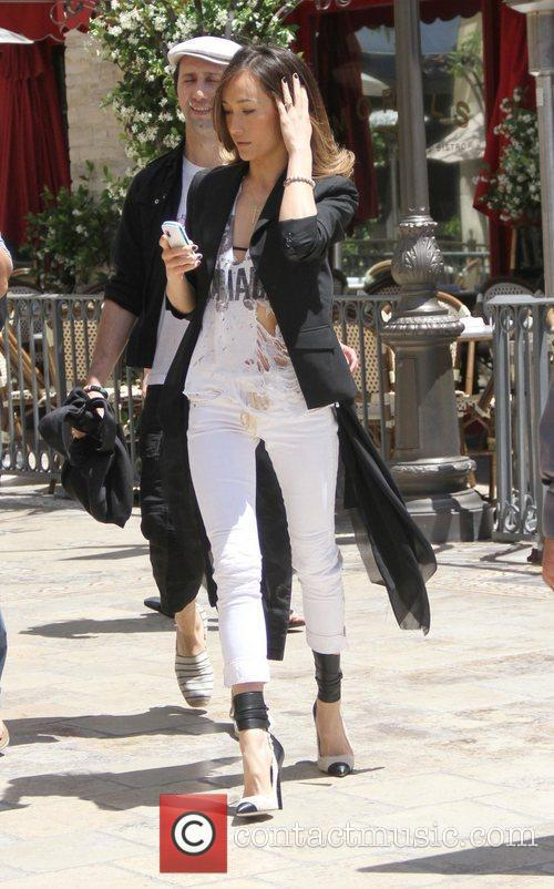 Maggie Q at The Grove to film an...