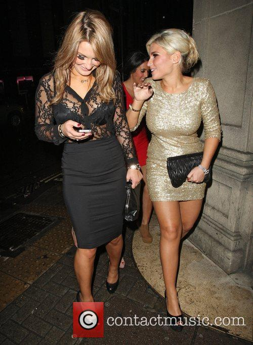 Leaves Mahiki nightclub in Mayfair