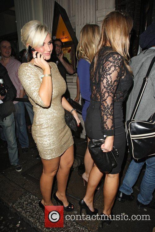 Billie Faiers,  leaves Mahiki nightclub in Mayfair...