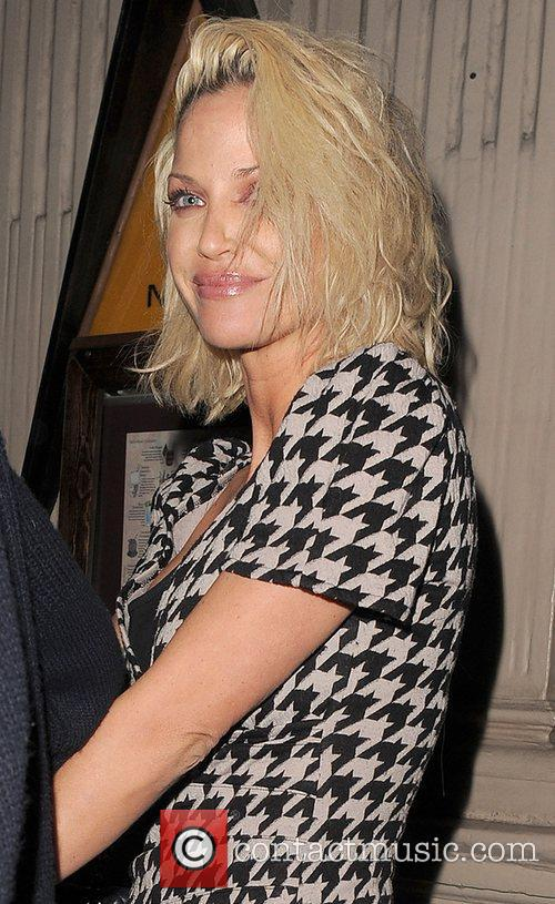 Sarah Harding leaving Mahiki nightclub at 3.30am, appearing...