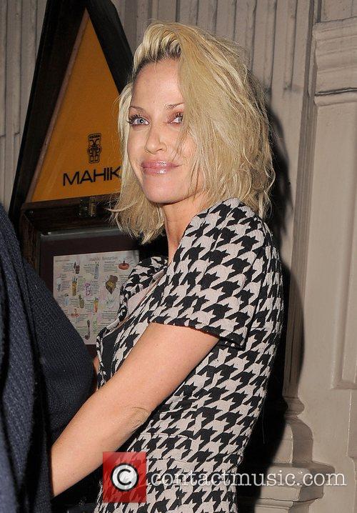 Sarah Harding leaving Mahiki nightclub at 3.30am, appearing...