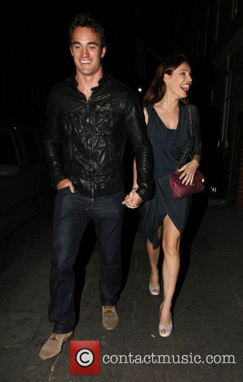 Are all smiles as they leave Mahiki bar....