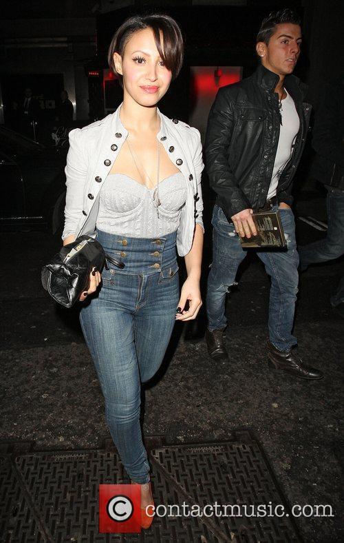 Amelle Berrabah,  leaving Mahiki nightclub. London, England