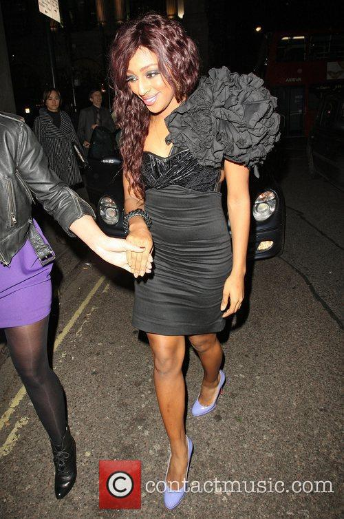 Alexandra Burke  celebrities outside Mahiki Club London,...