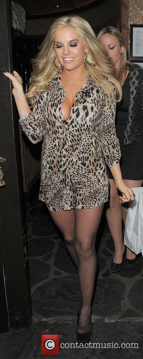 Kayla Collins leaving Mahiki nightclub.