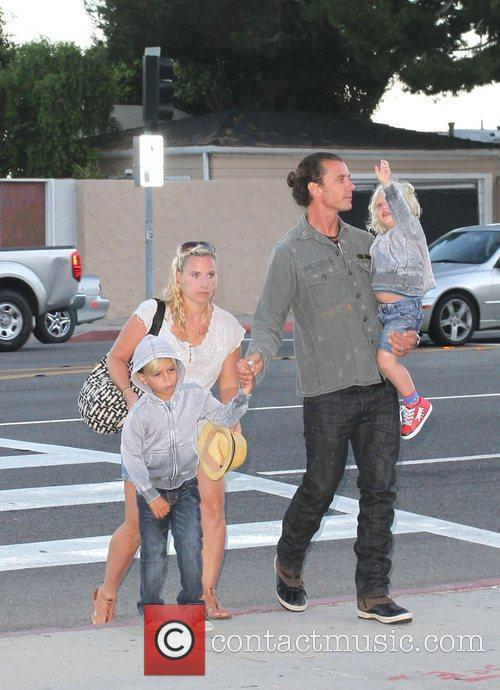 Gavin Rossdale with his children Kingston and Zuma...