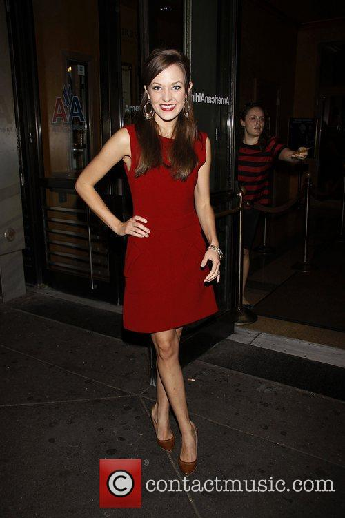 Laura Osnes  Opening night of the Broadway...