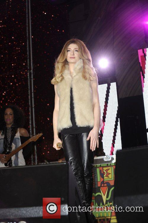 Nicola Roberts performing live at the Manchester City...