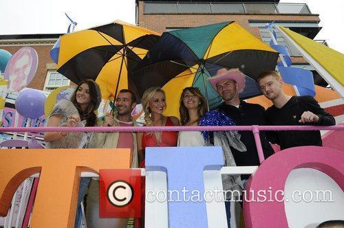 The Coronation Street cast Manchester Gay Pride 2011...