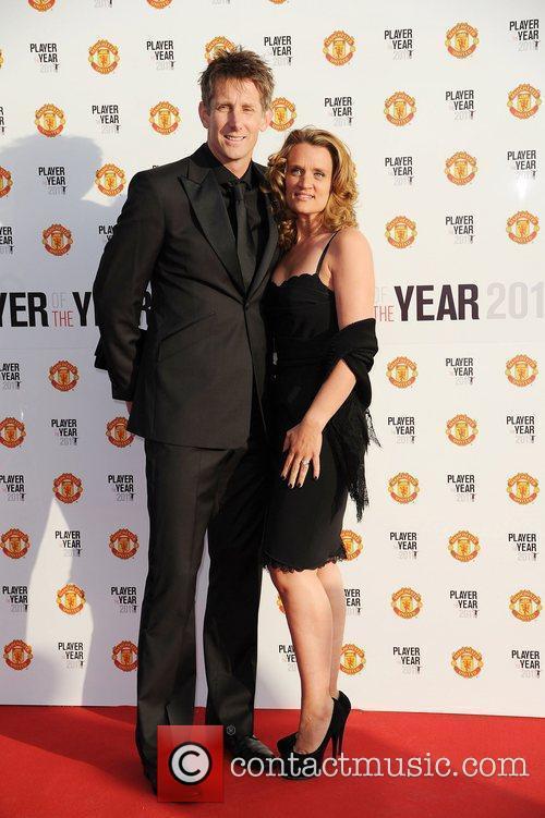 Edwin Van De Sar and his wife Marie...