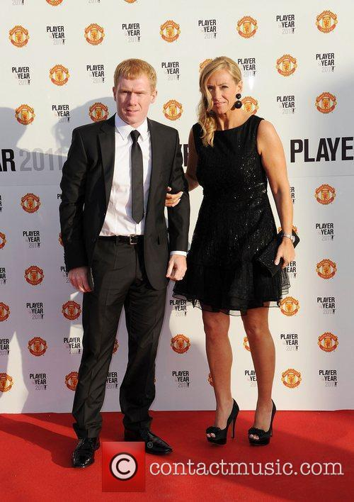 Paul Scholes and Claire Scholes Manchester United Annual...