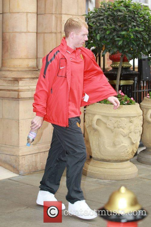 Paul Scholes leaves his London hotel London, England