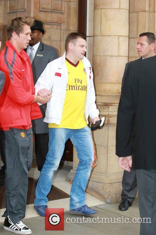 Tomasz Kuszczak leaves his London hotel London, England