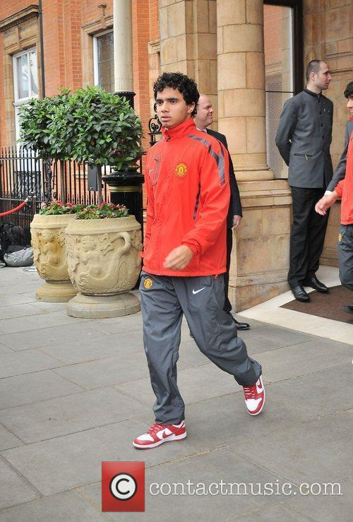 Fabio Da Silva leaves his London hotel along...