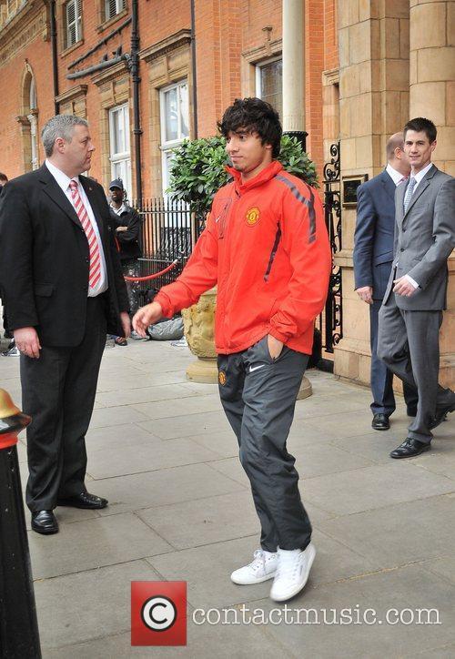 Raphael Da Silva leaves his London hotel along...