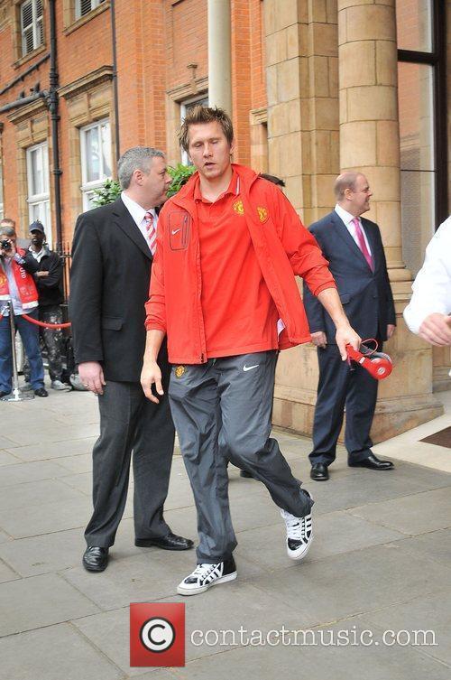 Tomasz Kuszczak leaves his London hotel along with...