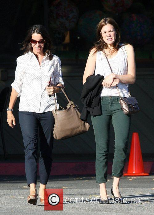 Mandy Moore out and about with friends in...