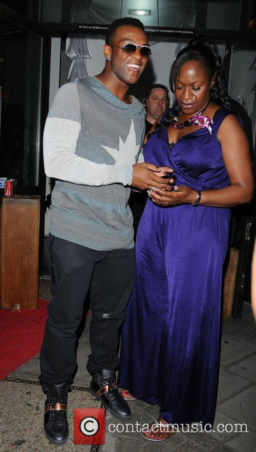 Oritse Williams and his mother attending the Ladyboy...
