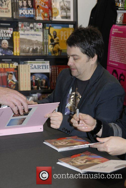 Sean Moore Manic Street Preachers sign copies of...