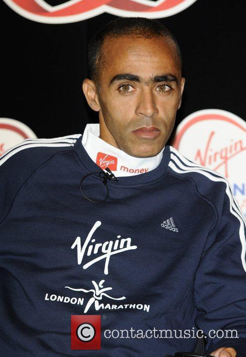 Jaouad Gharib Virgin London Marathon 2011 photocall and...