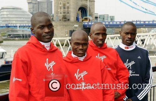 (L to R) Abel Kirui of Kenya, James...