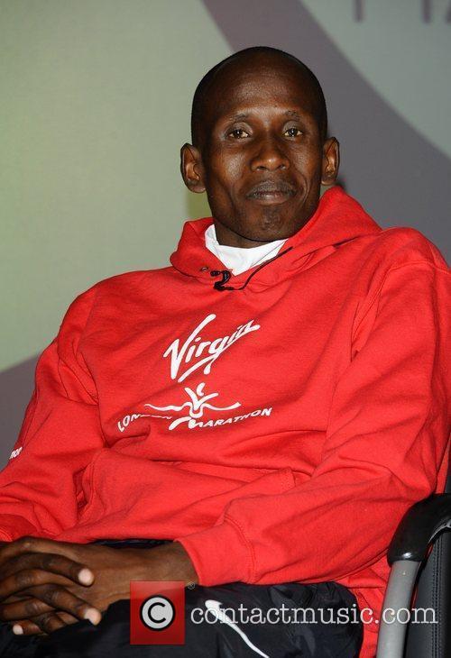 Martin Lel Virgin London Marathon 2011 photocall and...