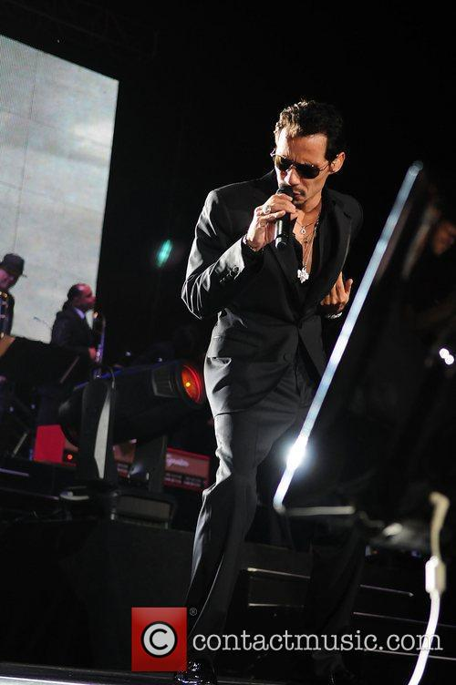 Marc Anthony performing live at the American Airlines...