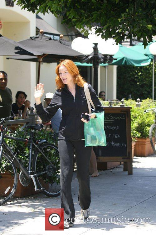 Marcia Cross heads out for lunch in Brentwood