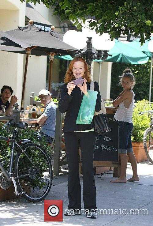 Marcia Cross heads out for lunch in Brentwood...